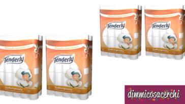 300 rotoli di carta igienica Tenderly Triple Soft sconto 32%
