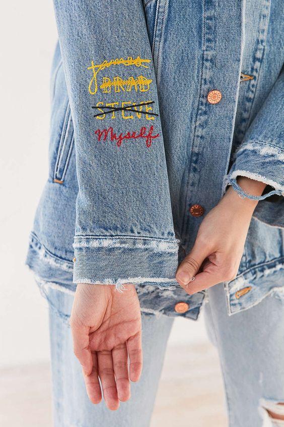 10 idee per personalizzare una giacca in jeans (e