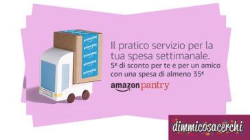 Amazon Pantry: codici sconto e spedizione gratuita