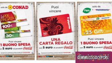 Concorsi Coca-Cola per vincere buoni spesa