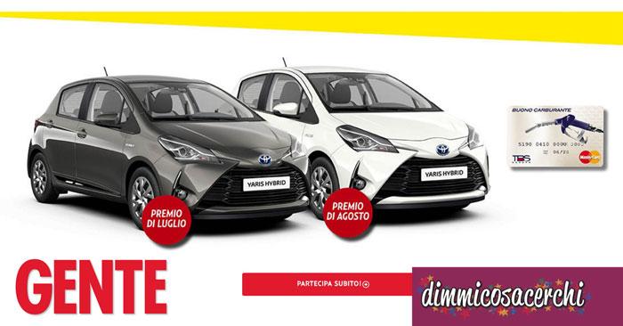 """Concorso """"Vinci Subito Con Gente"""": in palio Toyota Yaris e buoni benzina"""