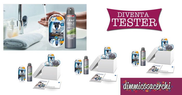 Diventa tester deodorante Dove Men+Care Elements Minerals+Sage e il rasoio Wilkinson