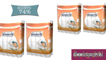 Offerta carta igienica Tenderly Triple Soft