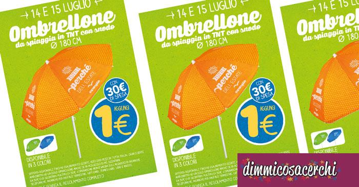 Ombrelloni Da Spiaggia Offerte.Eurospin Ti Regala L Ombrellone Da Spiaggia In 3 Colori