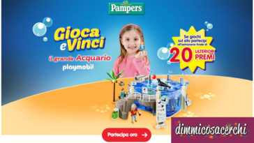 Vinci l'acquario Playmobil con Pampers