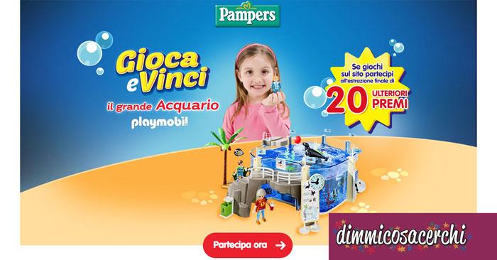 Vinci l'acquario Playmobil con Pampers