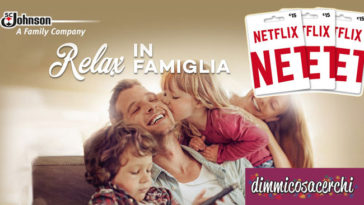 Vinci gift card Netflix con S.C. Johnson Italy