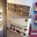 realizzare una libreria con i pallets
