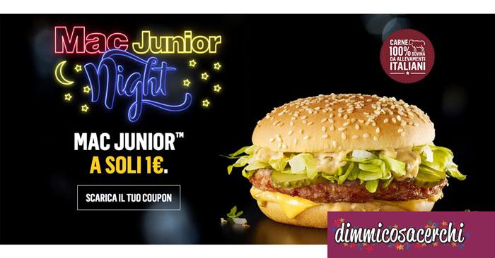 Panino Mac Junior: coupon