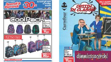 Spendi e Riprendi Carrefour sugli zaini per la scuola
