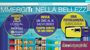 Vinci fotocamere subacquee con Tigotà e L'Oreal