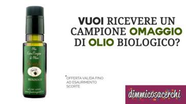 campione omaggio olio biologico