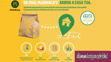 Con McDelivery Mc Donald's arriva a casa tua!