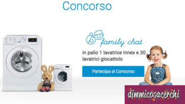 Concorso Indesit: vinci 1 Lavatrice Innex