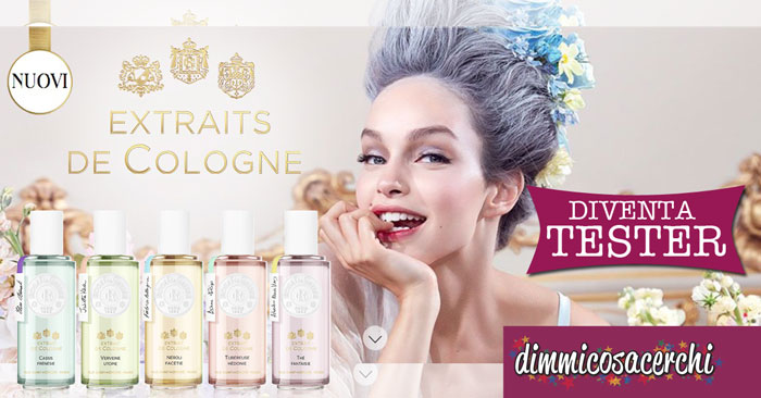 "Diventa tester ""My cologne My Nature"""
