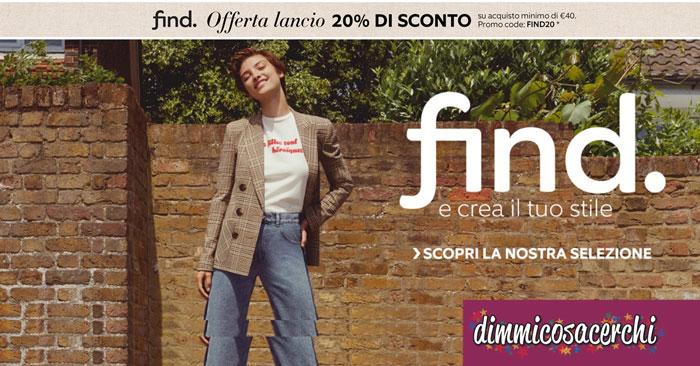 Find: il nuovo brand firmato Amazon Moda in sconto