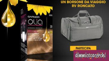 Garnier Olia ti regala il borsone da viaggio Roncato