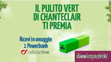 Powerbank omaggio con ChanteClair Vert