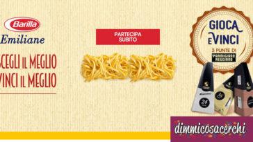 Promo Emiliane: vinci forniture Parmigiano Reggiano