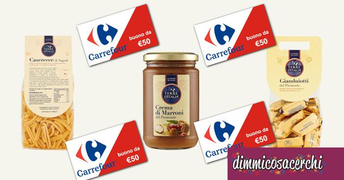 """Concorso Carrefour """"Terre D'Italia"""": vinci subito buoni spesa"""