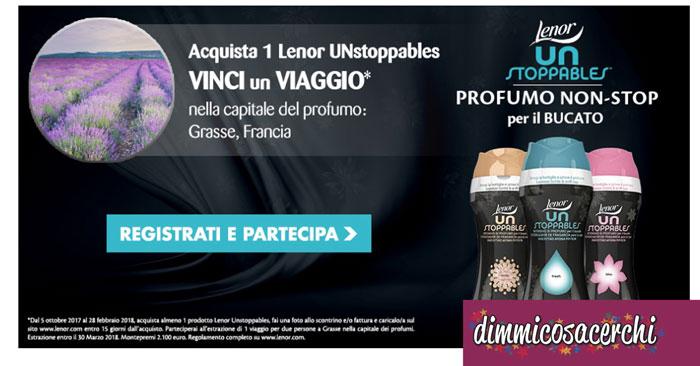 Compra Lenor UnStoppables e vinci un viaggio!