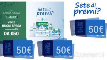 Concorso Levissima: vinci buoni spesa Supermercato24.it