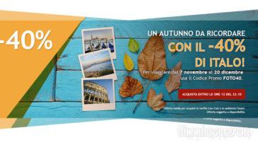 Italo Treno: viaggia con il 40% di sconto