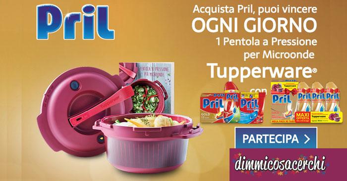 Vinci pentole a pressione Tupperware con Pril