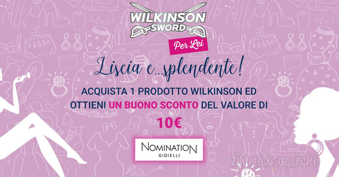 Wilkinson per lei ti regala 1 buono sconto Nomination