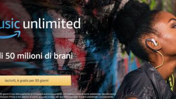 Prova gratis Amazon Music Unlimited