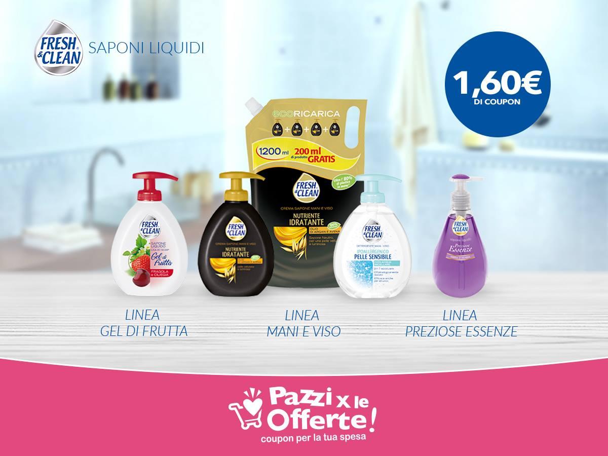 Coupon saponi liquidi Fresh&Clean: scaricali subito!