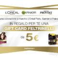 Card Feltrinelli in regalo con L'Oreal Paris