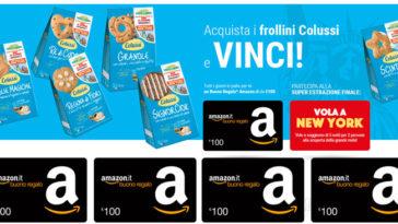 Concorso Colussi: vinci buoni Amazon e viaggio a New York