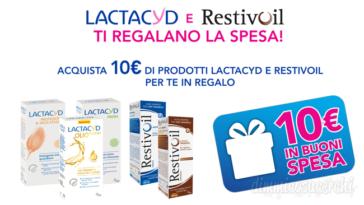 Lactacyd e Restivoil ti regalano la spesa
