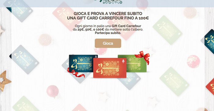 Vinci gift card Carrefour