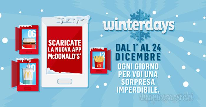 Winterdays: il calendario dell'Avvento di Mc Donald's