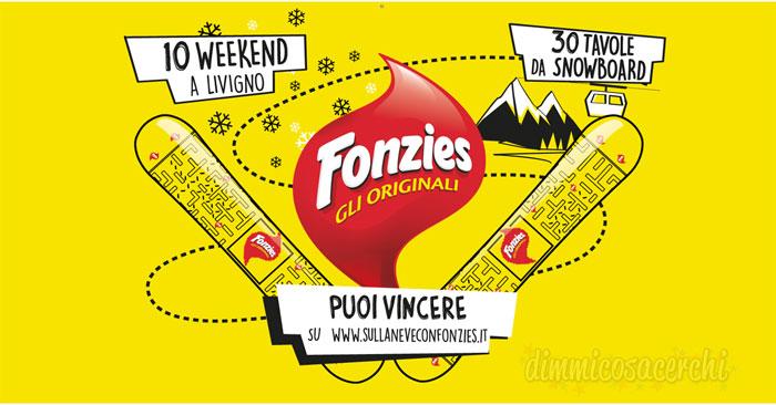 """Concorso """"Sulla neve con Fonzies"""": vinci tavole da Snowboard"""