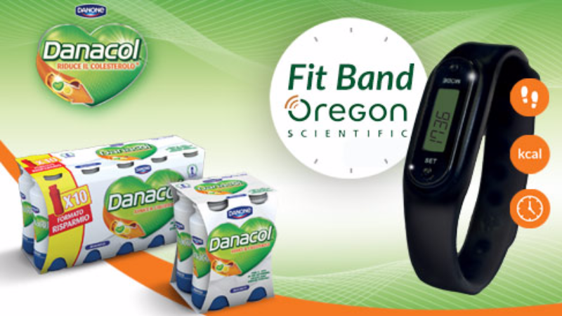 Danacol ti regala la FitBand Oregon Scientific