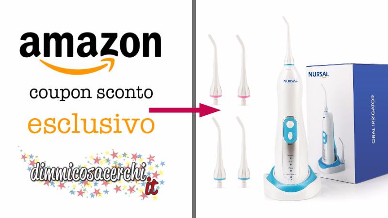 Idropulsore elettrico scontato: coupon ESCLUSIVO Amazon!