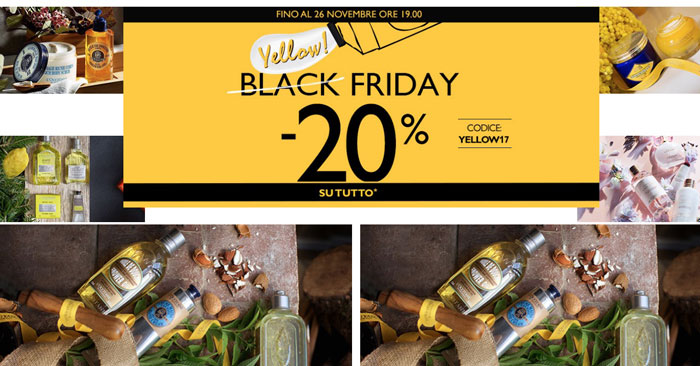 L'Occitane Black Friday 2017: sconto su tutto!