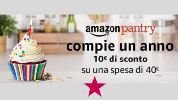 Compleanno Amazon Pantry: 10€ di sconto