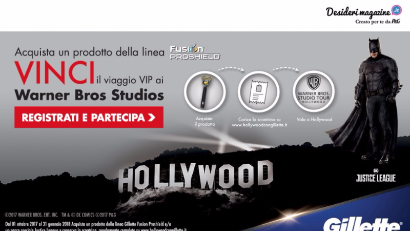 Vinci Hollywood con Gillette