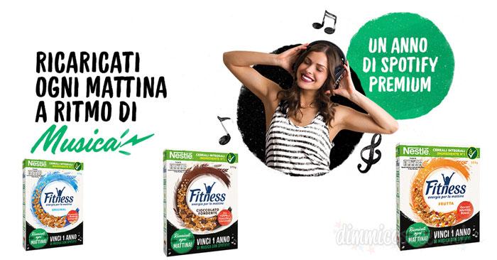 Cereali Fitness: vinci abbonamenti annuali a Spotify premium