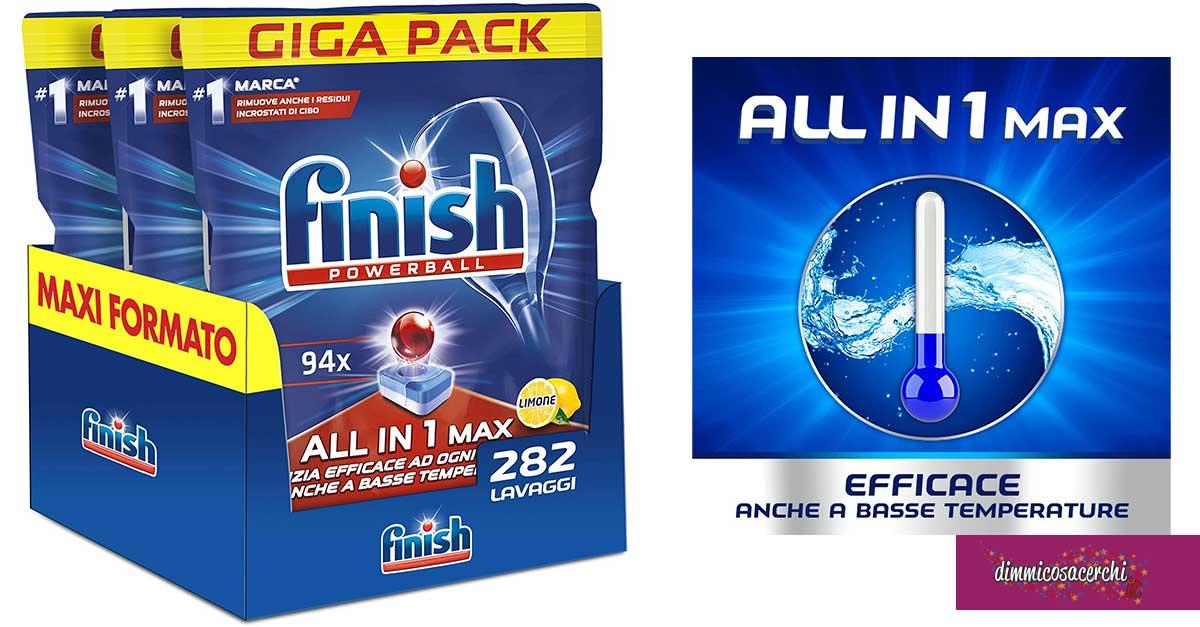 Detersivo per lavastoviglie Finish All in 1 MAX