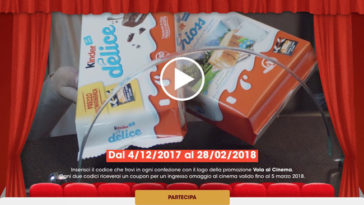 Ferrero ti regala i biglietti cinema