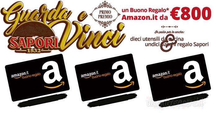 Vinci buoni regalo Amazon con il concorso Sapori