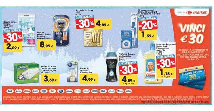 Vinci buoni spesa con Carrefour Market e P&G