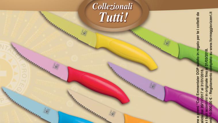 Set di coltelli svizzeri con Emmentaler da Despar