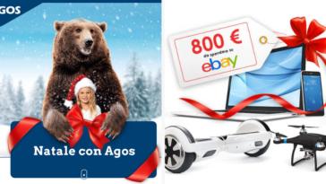 """Concorso """"Natale con Agos"""" instant win: vinci buono acquisto Ebay da 800€"""