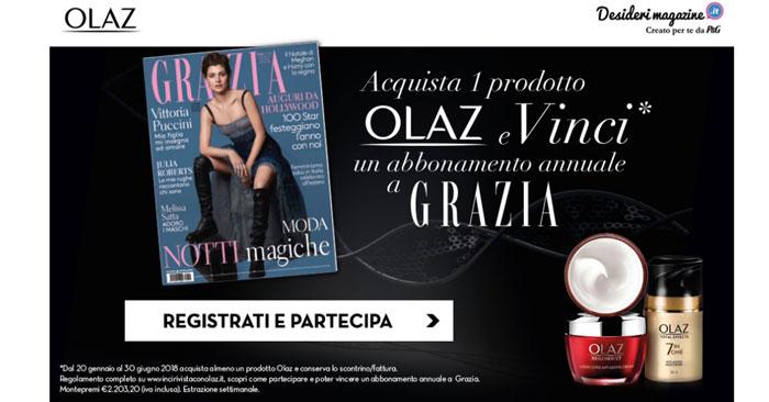 Concorso Olaz: vinci abbonamenti ad una rivista femminile
